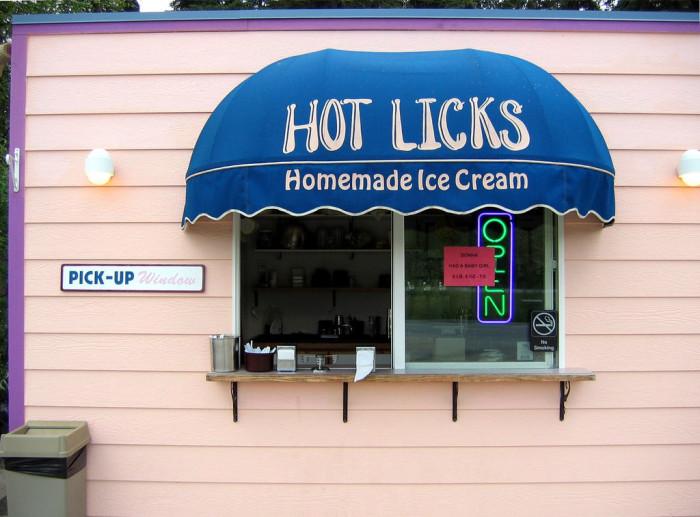 1) Hot Licks Homemade Ice Cream, Fairbanks