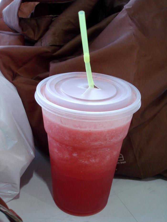 2. Watermelon + Ice = Watermelon Juice