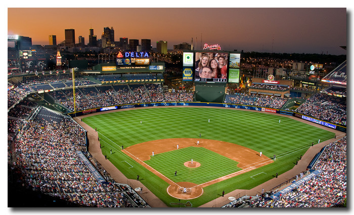 1. We will start with an amazing view over the Braves Stadium in Atlanta, GA...