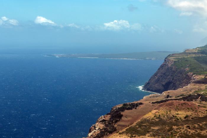 26) Molokai's sea cliffs.