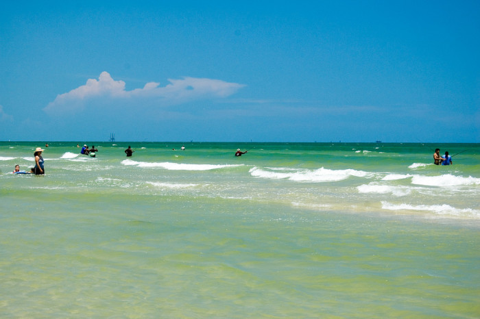 13) The magnificent green water at Port Aransas makes me want to dive right in!
