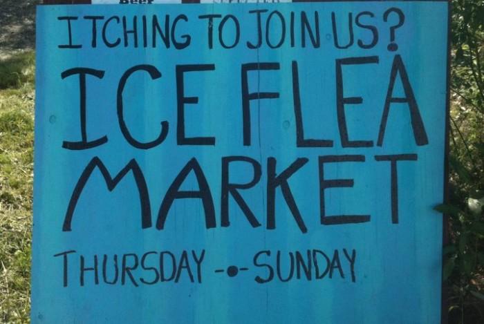 7) Ice Flea Market