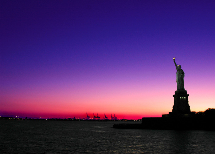 11. The Statue of Liberty as seen from a cruise in New Jersey waters.