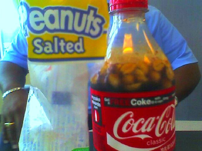 4. Salted Peanuts in Coke