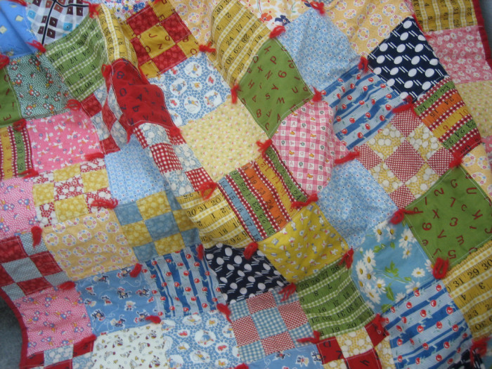 5. A quilt made by a family member.