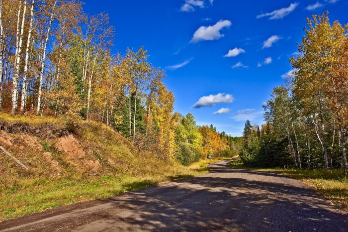 2. In Munger, this dirt road is absolutely breathtaking. Head from Duluth on Hwy 2 and hop on Munger Shaw Rd. to find a dirt road destination!