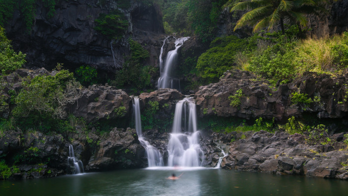 3) There are waterfalls all over the islands.