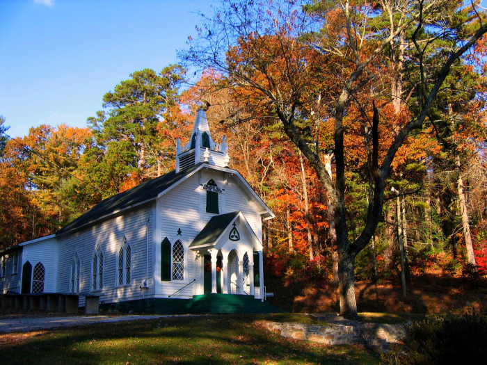 9. Helen, GA (and church)
