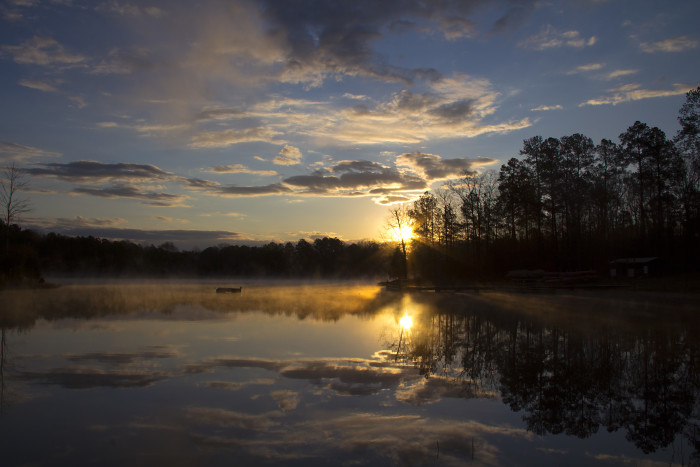 3. This tranquil shot was taken at Camp Seminole in Oktibbeha County.