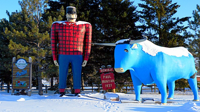 12. Taken a picture with a Paul Bunyan statue!