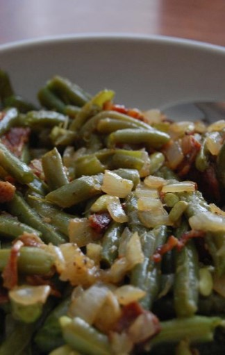 3. Green Beans and Bacon Grease