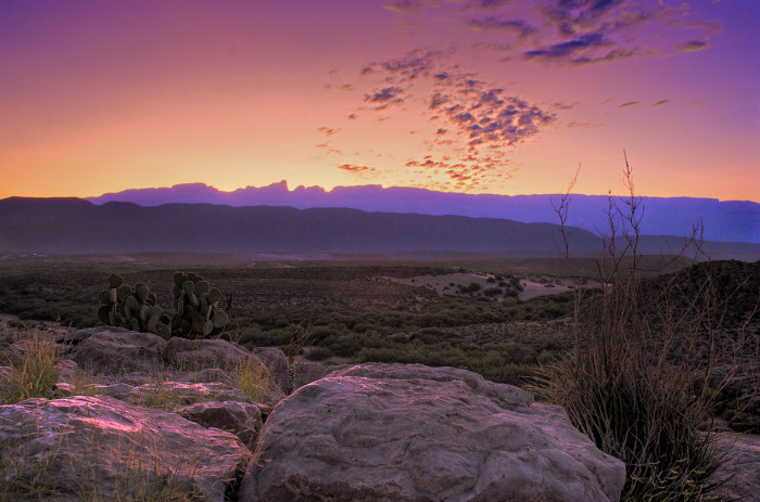 6) There just isn't a sunrise quite like one witnessed in Big Bend National Park.