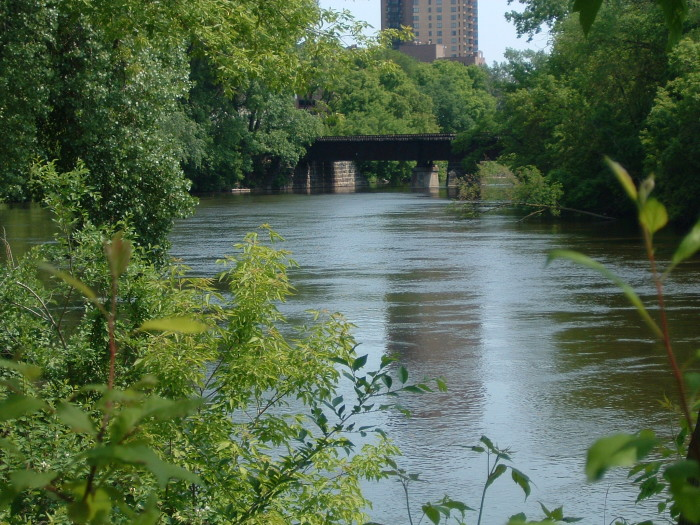 3. Nicollet Island has quiet river views in the middle of a crowded city. It's the perfect place to relax and take in the beauty of Minneapolis.