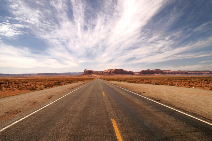 5. Of course, there's also the long, scenic drive leading into Monument Valley along US 163.