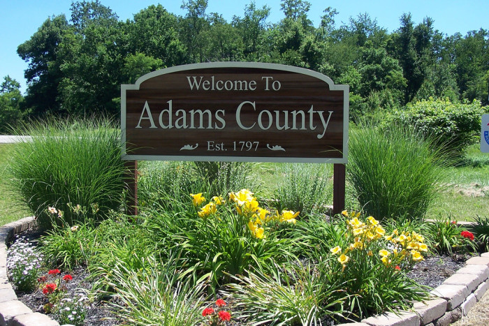 3. Adams County: 31.96 offenders/10,000 residents
