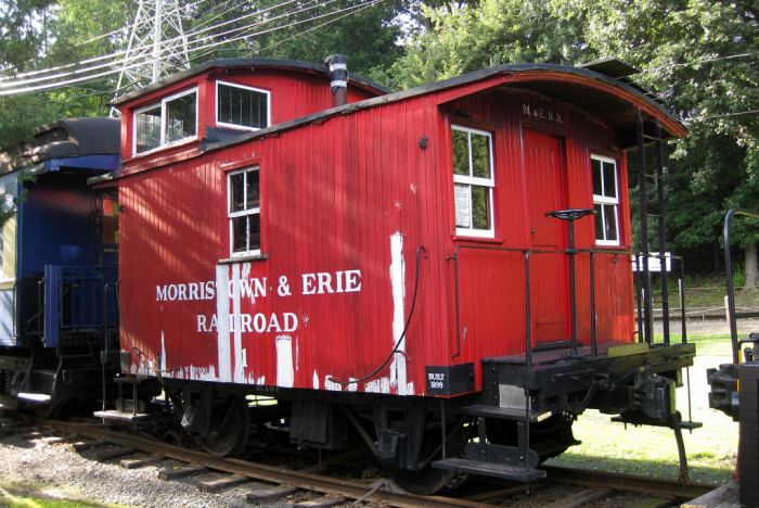 """2. This """"bobber"""" caboose was built in 1899 for the Delaware, Lackawanna & Western Railroad and  was sold to the Morristown and Erie Railroad in 1937. The caboose was once an essential part of a train, but it is now a relic of the past. If you'd like to ride on a caboose, you can purchase tickets from the Whippany Railway Museum."""