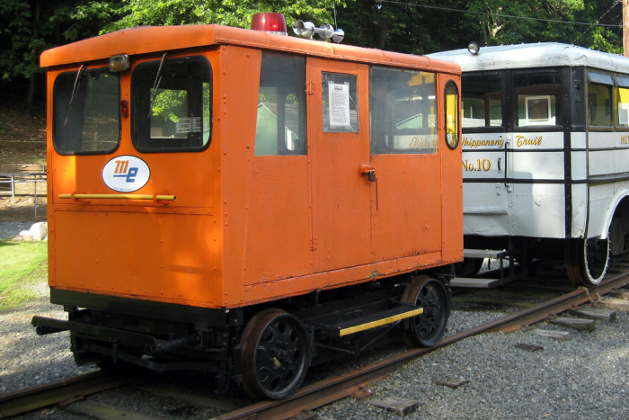 9. This Morristown and Erie car can be found at the Whippany Railway Museum. It is a section gang car, built circa 1956, and was meant to transport workers maintaining the tracks.