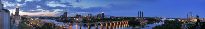 5. Mill Ruins Park in Minneapolis offers phenomenal views of the Mississippi and the Stone Arch Bridge over it!