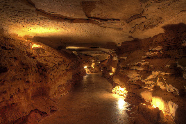 5) And who says you can't explore nature when it's raining? Take the adventure underground in one of Texas' caves!