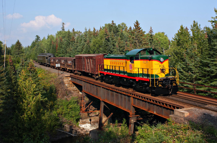 3. This gorgeous train was captured during Lake Superior Railroad Museum's railfan weekend. Don't you love the background?
