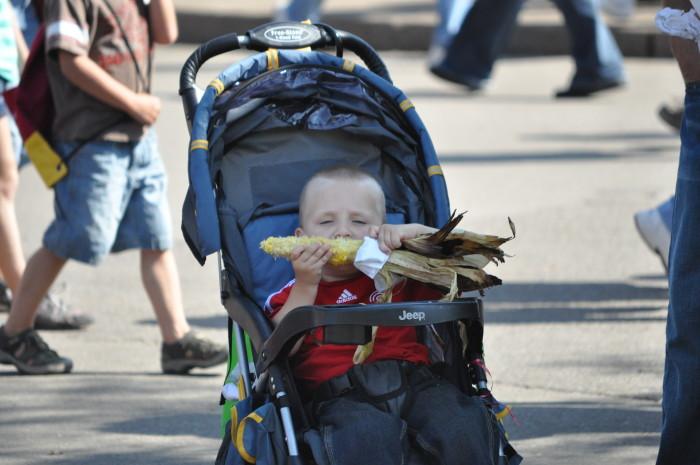 7. Take time to enjoy the life's simple pleasures. Like State Fair corn!