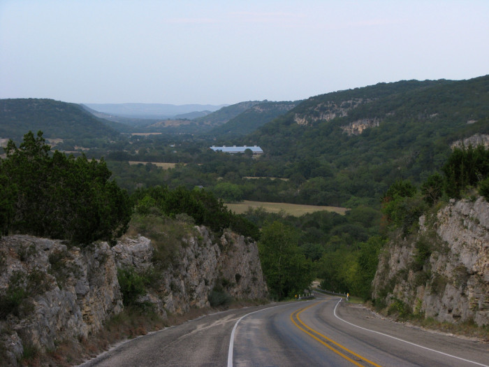 "9) The ""Three Sisters"" of Texas, between Vanderpool and Medina."