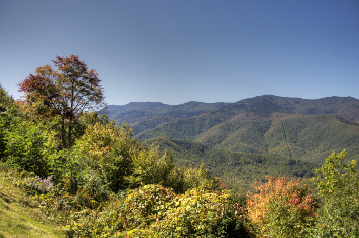 9. Then we will fly to witness the spectacular view from the Blue Ridge Mountains...