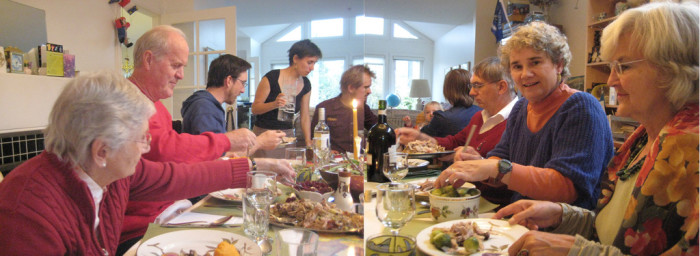 4. Thanksgiving with the entire family. It just doesn't get better than that. The laughter, the bickering, kissing the babies...Ah, yes, Thanksgiving.