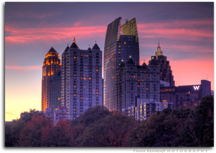 7. ...Come back down to the city to see a breathtaking sunset in Midtown...