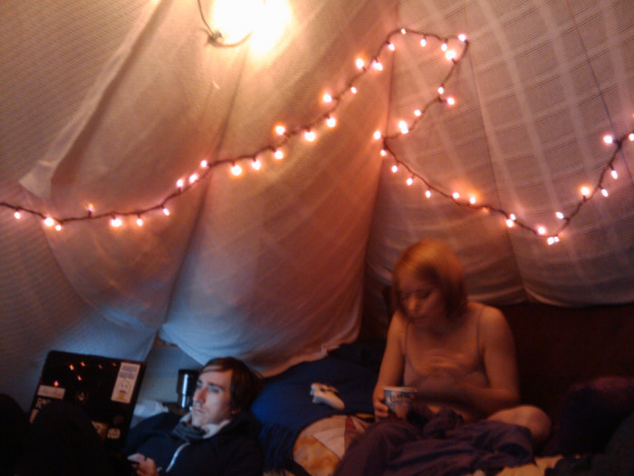 15) I saved the best for last. Unleash that inner child and watch movies/color/tell ghost stories in a blanket fort!