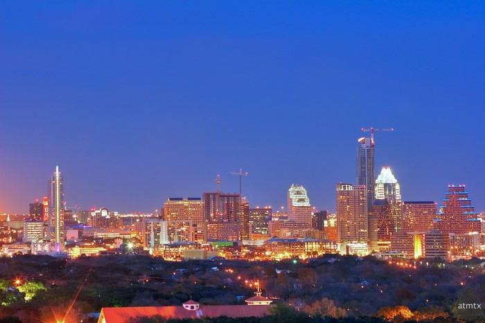 2) You really can't put a price tag on this stunning view of downtown Austin at night..wow!