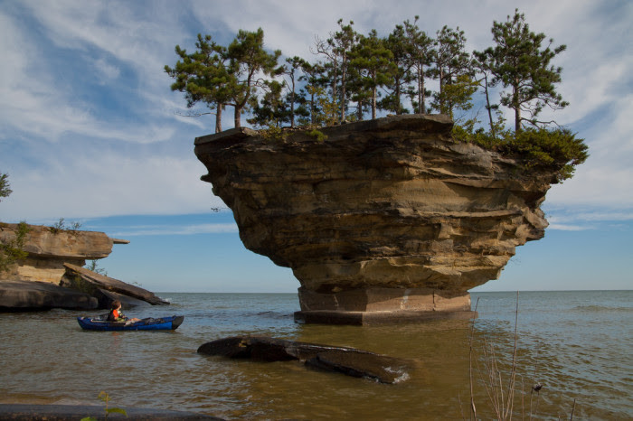 6) Turnip Rock on Lake Huron