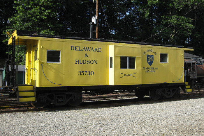 5. The Delaware and Hudson was originally a canal company, but evolved into a railway. Trains ran throughout New York, New Jersey and Pennsylvania, all the way into Canada. This cheerful looking car can be found at the Whippany Railway Museum.