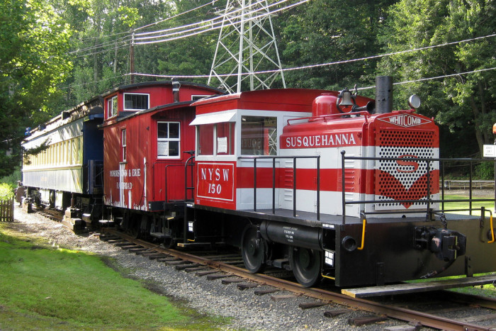 1. The NYSW 150 was originally built for the military in 1942,  but was sold in 1946 to New York Susquehanna & Western. For the next 12 years, it was used as a pierside switcher at the Susquehanna's Edgewater, NJ piers. Enjoy its beauty in person at the Whippany Railway Museum.