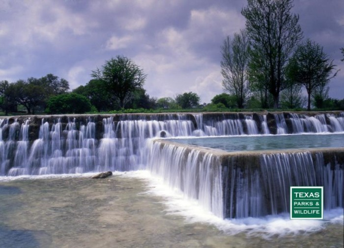 12) Doesn't the cascading water at Blanco State Park look so inviting?