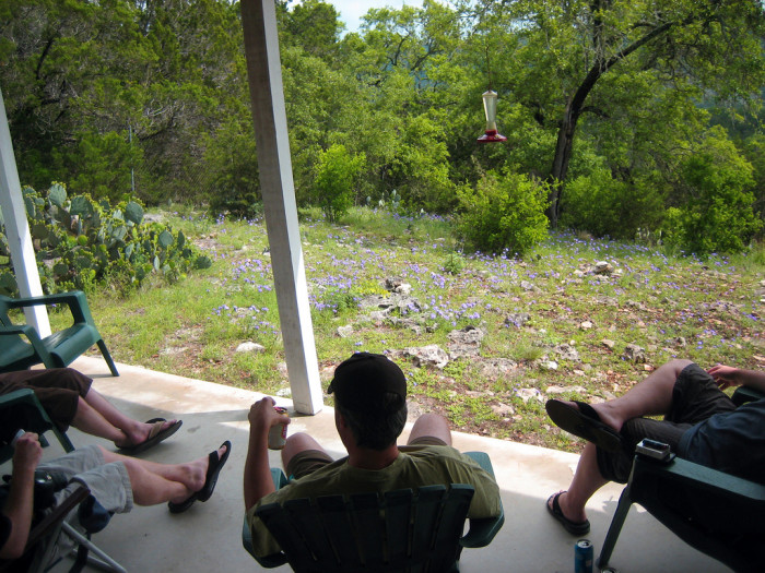 9) Texans will sit on the back porch with you for hours, just talking about life over some cold beer or sweet tea.