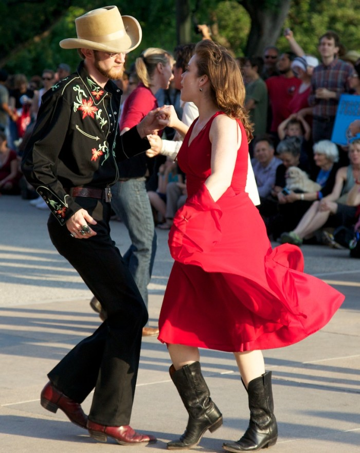 2. Take a dance class together and twirl her in your arms.