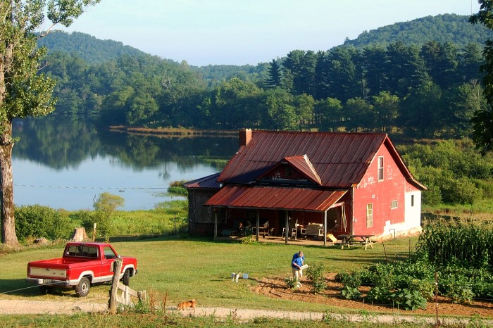 5. We'll soar around and see an unforgettable view of a farm in Suches, GA...