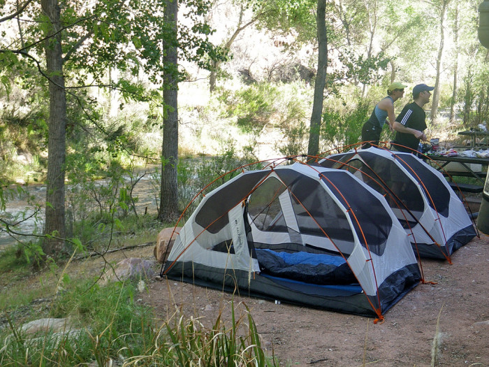 9) Tents, so we can enjoy the great outdoors and escape reality for a little while.