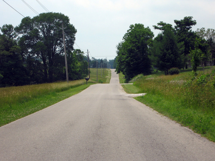 "12. This ""old road"" as the photographer calls it is located somewhere in Jennings County."
