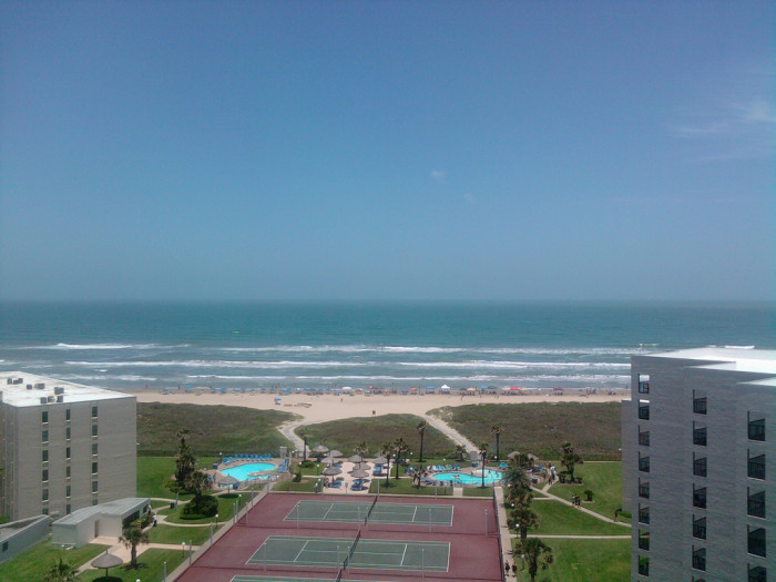 8) A killer view of the Gulf from a condo in South Padre Island!