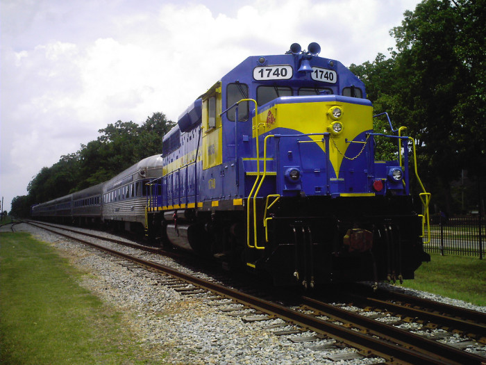 6. Big Blue Train in Plains, GA