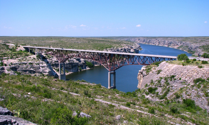 7) Take US Highway 90 over the Pecos River Bridge for spectacular views of the river below!