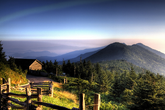 1. Climb high in love and enjoy amazing views at the top of Mt. Mitchell.