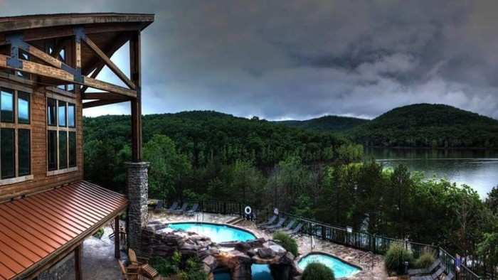 5. Take a more luxurious trip to a private lake and wilderness retreat in Shell Knob.