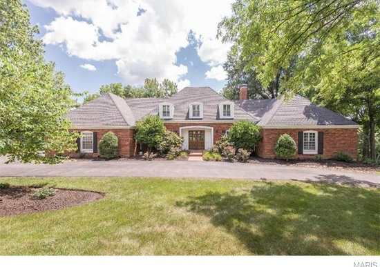 5. 16 Jennycliffe Ln, Chesterfield, MO 63005.  This beautiful home in Chesterfield has 3,694 square feet of living space, 5 bedrooms, 4.5 bathrooms, a deck, finished basement, fireplace, barbeque, garden and vaulted ceilings!  All for $705,000!