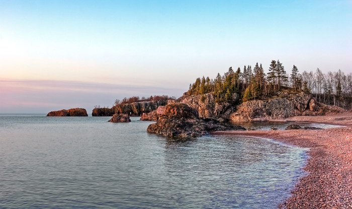 24. Silver Bay in early morning is unbeatable.