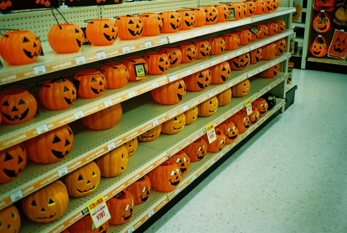 6. The stores--and strip malls--also start filling with Halloween decorations before you've even started thinking about this year's costume.