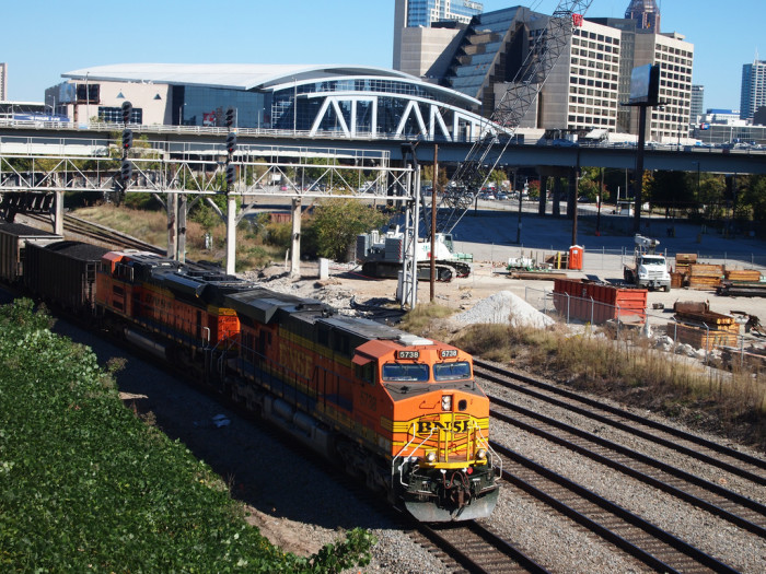 19. Freight Train Running Through Atlanta, GA
