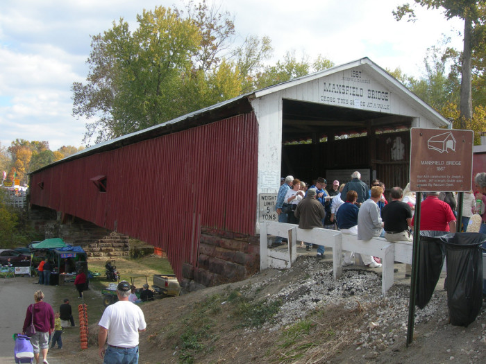 8. We are home to the covered bridge festival. Only thing better than a covered bridge is a party on a covered bridge – Am I right?